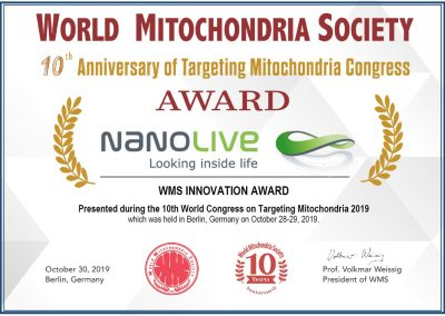 Award World Mitochondria Society