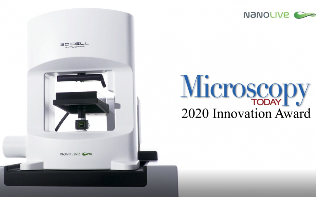 Nanolive receives Microscopy Today Innovation Award 2020 for automated live cell imaging microscope CX-A