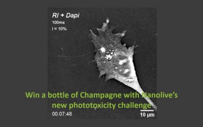 Win a bottle of Champagne with Nanolive's new phototoxicity challenge