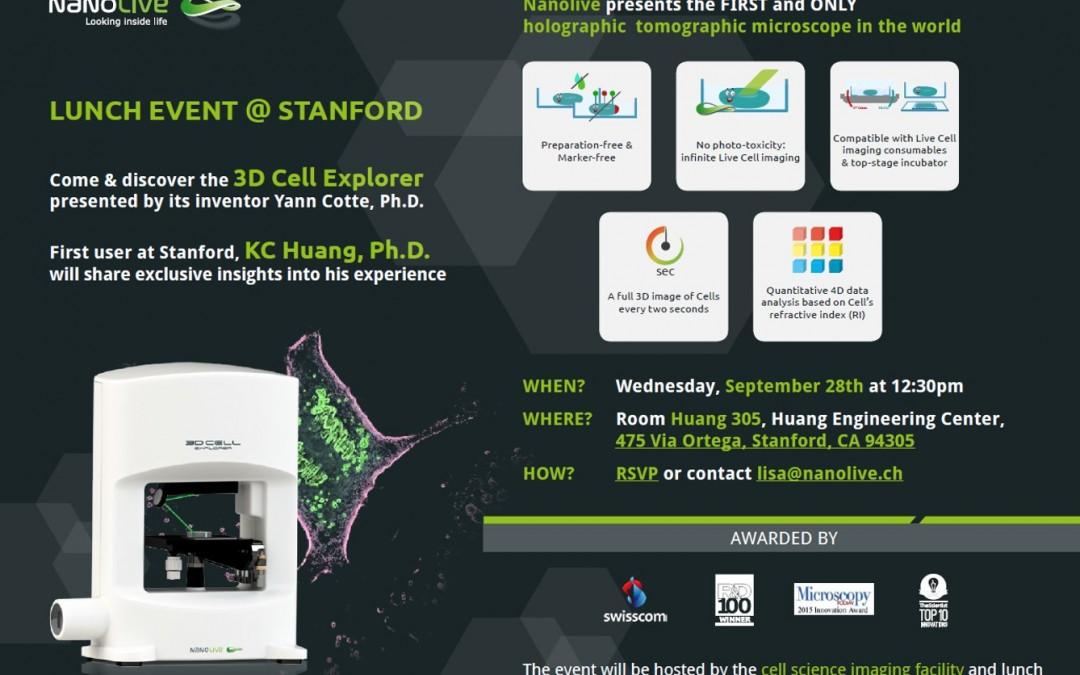 September 28th: Nanolive invites you for lunch @ Stanford !