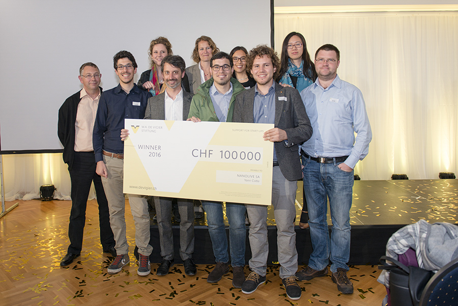 """Nanolive among the """"Groundbreaking Technologies – Made in Switzerland"""" awarded with the De Vigier prize!"""