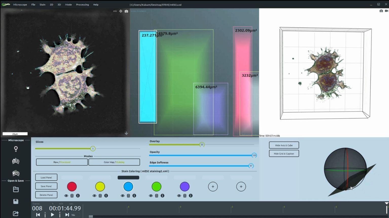User Interface STEVE - software for live cell imaging