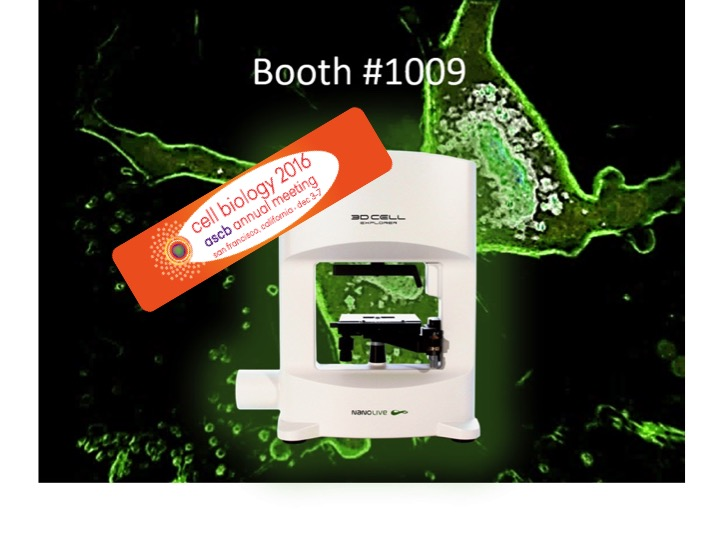 The 3D Cell Explorer will be at #ASCB16 on Booth #1009