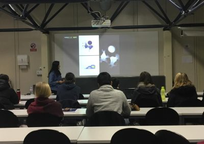 Nanolive live cell imaging microscope: students listening to Nanolive talk at EPFL